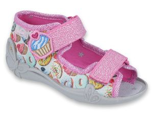 Sandały dziewczęce Papi Befado - 242P092